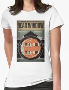 Rear Window alternative movie poster Womens Fitted T-Shirt
