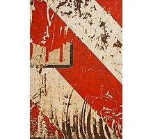 Red Travail Photographic Print