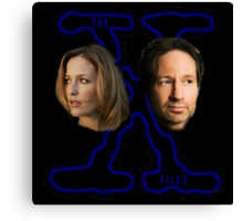 X-Files Scully and Mulder now Canvas Print