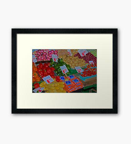 vegetable market Framed Print