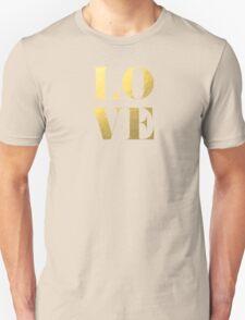LOVE Faux Gold Foil Unisex T-Shirt