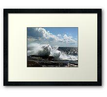 Ocean Burst Framed Print