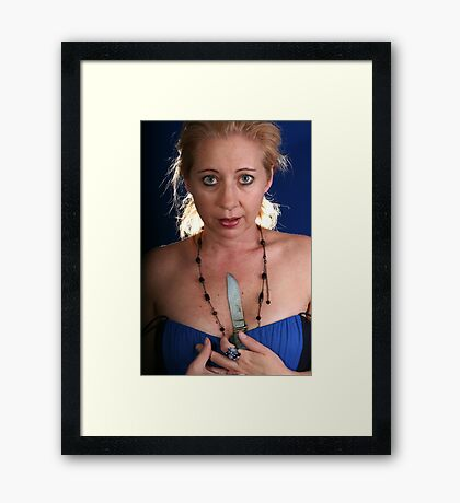 And You Go Home And You Cry And You Want To Die Framed Print