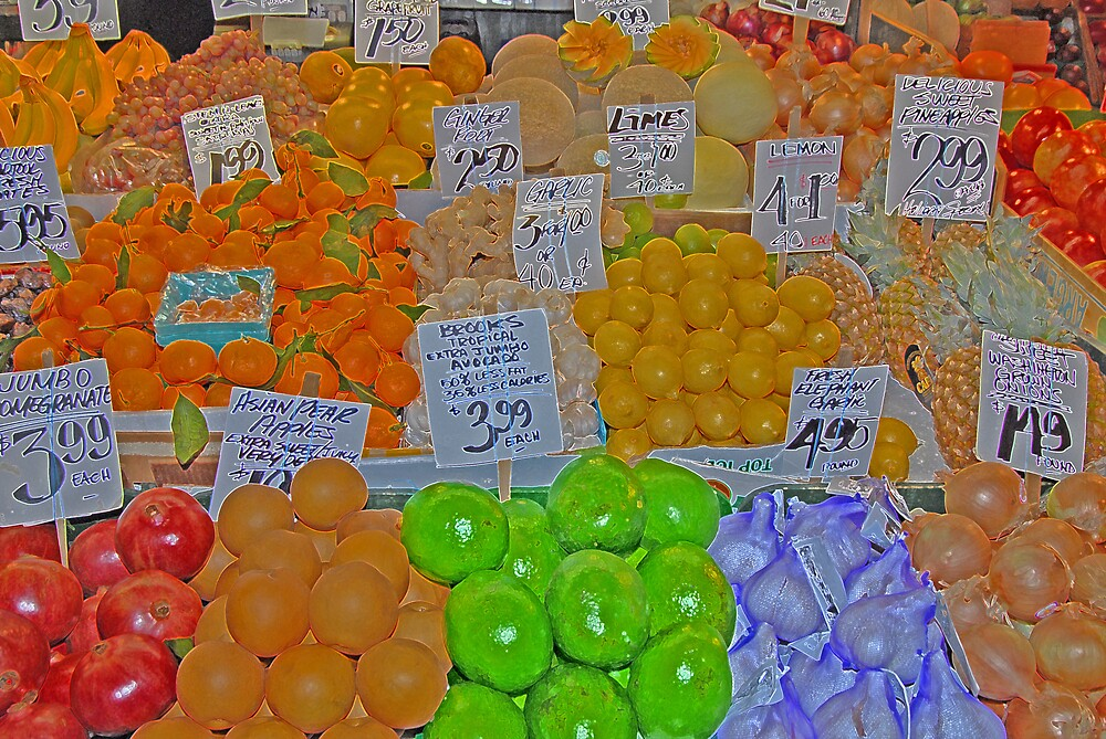 vegetable market 2 by Gale Distler