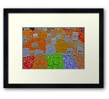vegetable market 2 Framed Print