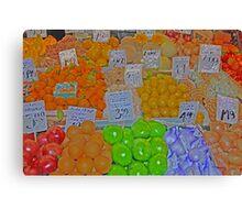 vegetable market 2 Canvas Print