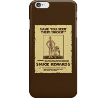 t-shirt Star wars c3po r2d2 z6po poster wanted have you seen these droids iPhone Case/Skin