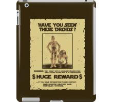 t-shirt Star wars c3po r2d2 z6po poster wanted have you seen these droids iPad Case/Skin