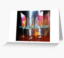 drinks for three ! Greeting Card