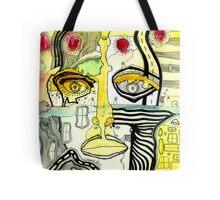 """""""Half Full"""" art by C.Cambrea Tote Bag"""