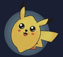 t-shirt pokemon kid t-shirt pikachu t-shirt cute kawai t-shirt fruit t-shirt citron t-shirt lemon by KokoBlacksquare