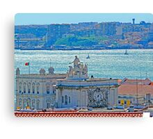Lisbon. Tejo river view from the Castle Canvas Print