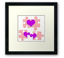 Love is a Puzzle Framed Print