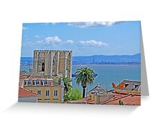 Sé de Lisboa. (Cathedral). Tejo river. Greeting Card