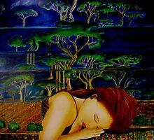 """Nature Sleeping - Oil Painting by Belinda """"BillyLee"""" NYE (Printmaker)"""
