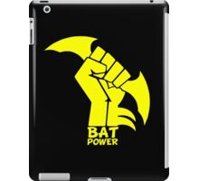 BATMAN POWER - BLACK POWER - BAT POWER ( yellow ) iPad Case/Skin