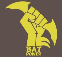 BATMAN POWER - BLACK POWER - BAT POWER ( yellow ) Kids Clothes