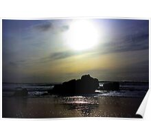 Sunset over the Rocks. California, Highway 1 Poster