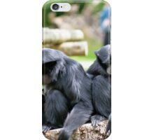 Siamang Gibbon family relaxing in fota wildlife park iPhone Case/Skin