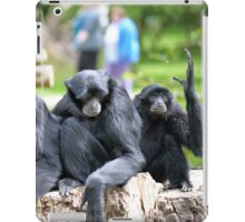 Siamang Gibbon family relaxing in fota wildlife park iPad Case/Skin