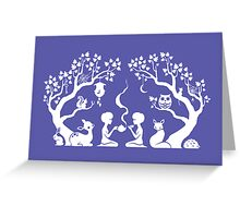 Twilight Teatime Greeting Card