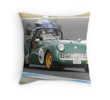 Triumph TR 3A Throw Pillow