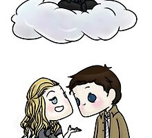 Claire Novak, Jimmy Novak, Castiel by Citra K