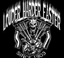 LOUDER FASTER HARDER by NoCashComics