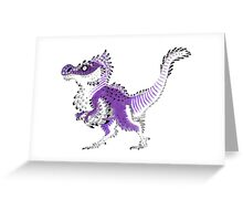 Asexual Pride Dinosaur Greeting Card
