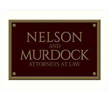 Nelson & Murdock - Attorneys at Law (Daredevil) Art Print
