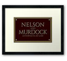 Nelson & Murdock - Attorneys at Law (Daredevil) Framed Print