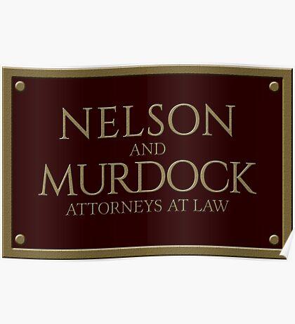 Nelson & Murdock - Attorneys at Law (Daredevil) Poster