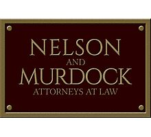 Nelson & Murdock - Attorneys at Law (Daredevil) Photographic Print