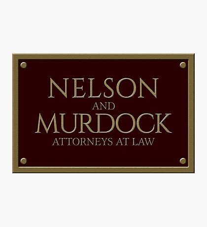 Nelson & Murdock - Attorneys at Law (Daredevil) Photographic Print