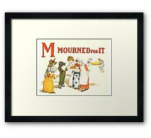 Kate Greenaway 1886 a apple pie M Mourned for it Framed Print