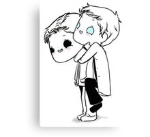 Demon Dean & Castiel Canvas Print