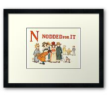 Kate Greenaway 1886 a apple pie N Nodded for it Framed Print