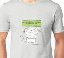 All generalizations are false... / Cat doodle Unisex T-Shirt
