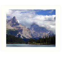 Two Peaks-Maligne Lake Art Print