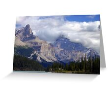 Two Peaks-Maligne Lake Greeting Card