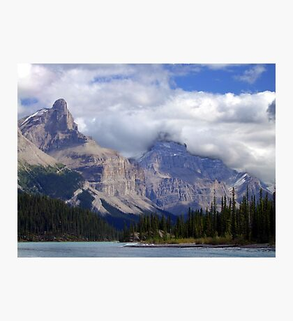Two Peaks-Maligne Lake Photographic Print