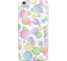 Pastel Button Mania  iPhone Case/Skin