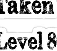 Level 80 Cleric/Warrior Sticker