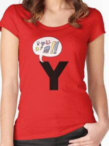 w h y ? Women's Fitted Scoop T-Shirt