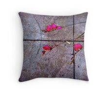 A Little Beauty in the City Gloom Throw Pillow