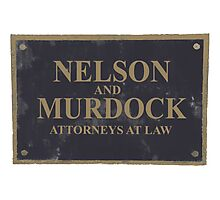Nelson and Murdock  Photographic Print