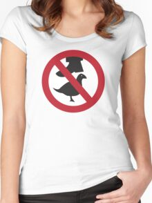 Don't Step on the Birds Women's Fitted Scoop T-Shirt