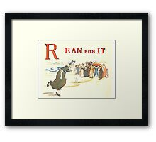 Kate Greenaway 1886 a apple pie R Ran for it Framed Print