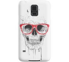 Skull with red glasses Samsung Galaxy Case/Skin