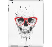 Skull with red glasses iPad Case/Skin